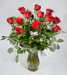 Dozen Roses from Schultz Florists, flower delivery in Chicago