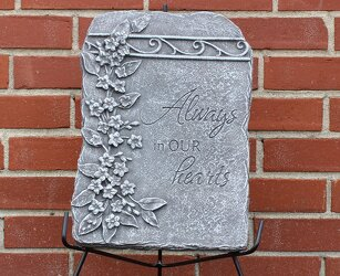 Always Hearts Concrete Plaque from Schultz Florists, flower delivery in Chicago