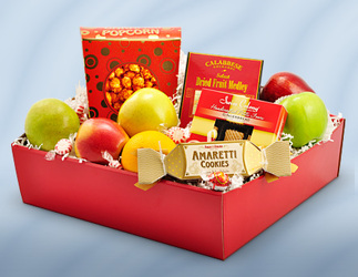 Fruit and Gourmet Box from Schultz Florists, flower delivery in Chicago
