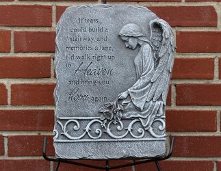 If Tears Plaque from Schultz Florists, flower delivery in Chicago