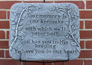 Memory Keepsake Plaque from Schultz Florists, flower delivery in Chicago