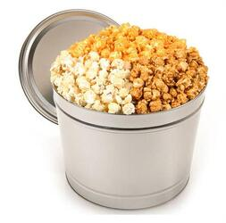 Mixed Popcorn Tin from Schultz Florists, flower delivery in Chicago