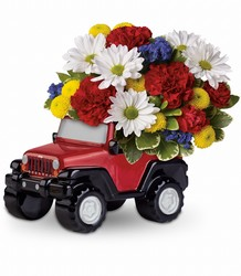 Jeep Wrangler Blazing Trails Bouquet by Teleflora from Schultz Florists, flower delivery in Chicago