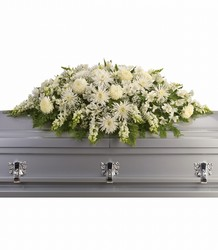 Enduring Light Casket Spray from Schultz Florists, flower delivery in Chicago