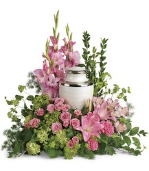 Sacred Solace Cremation Tribute from Schultz Florists, flower delivery in Chicago