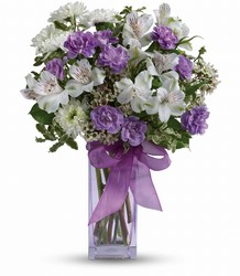 Lavender Laughter Bouquet from Schultz Florists, flower delivery in Chicago