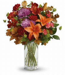 Teleflora's Fall Brights Bouquet from Schultz Florists, flower delivery in Chicago