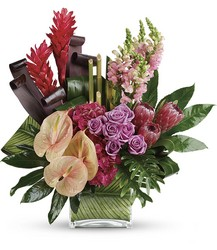 Tahitian Tropics Bouquet from Schultz Florists, flower delivery in Chicago