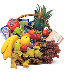 Gourmet Fruit Basket from Schultz Florists, flower delivery in Chicago