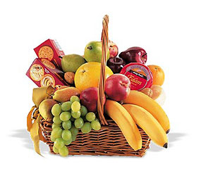 Fruit and Gourmet Basket from Schultz Florists, flower delivery in Chicago